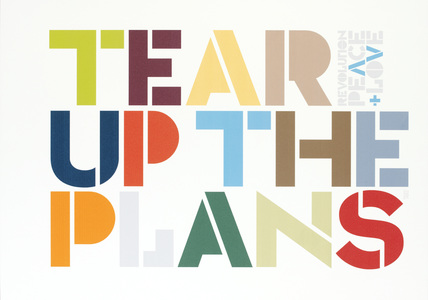 tear up the plans